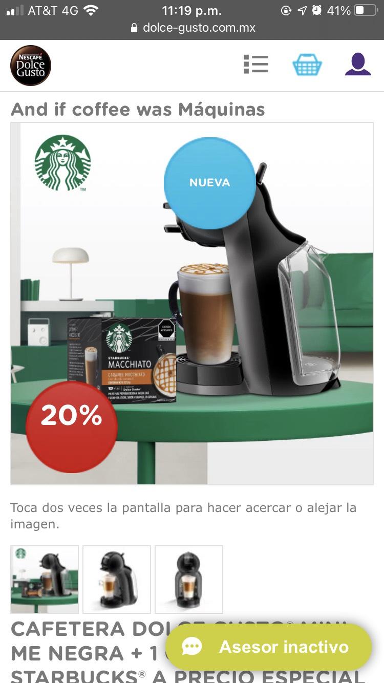 Dolce Gusto: CAFETERA DOLCE GUSTO® MINI ME NEGRA + 1 CUBO CÁPSULAS STARBUCKS® A PRECIO ESPECIAL