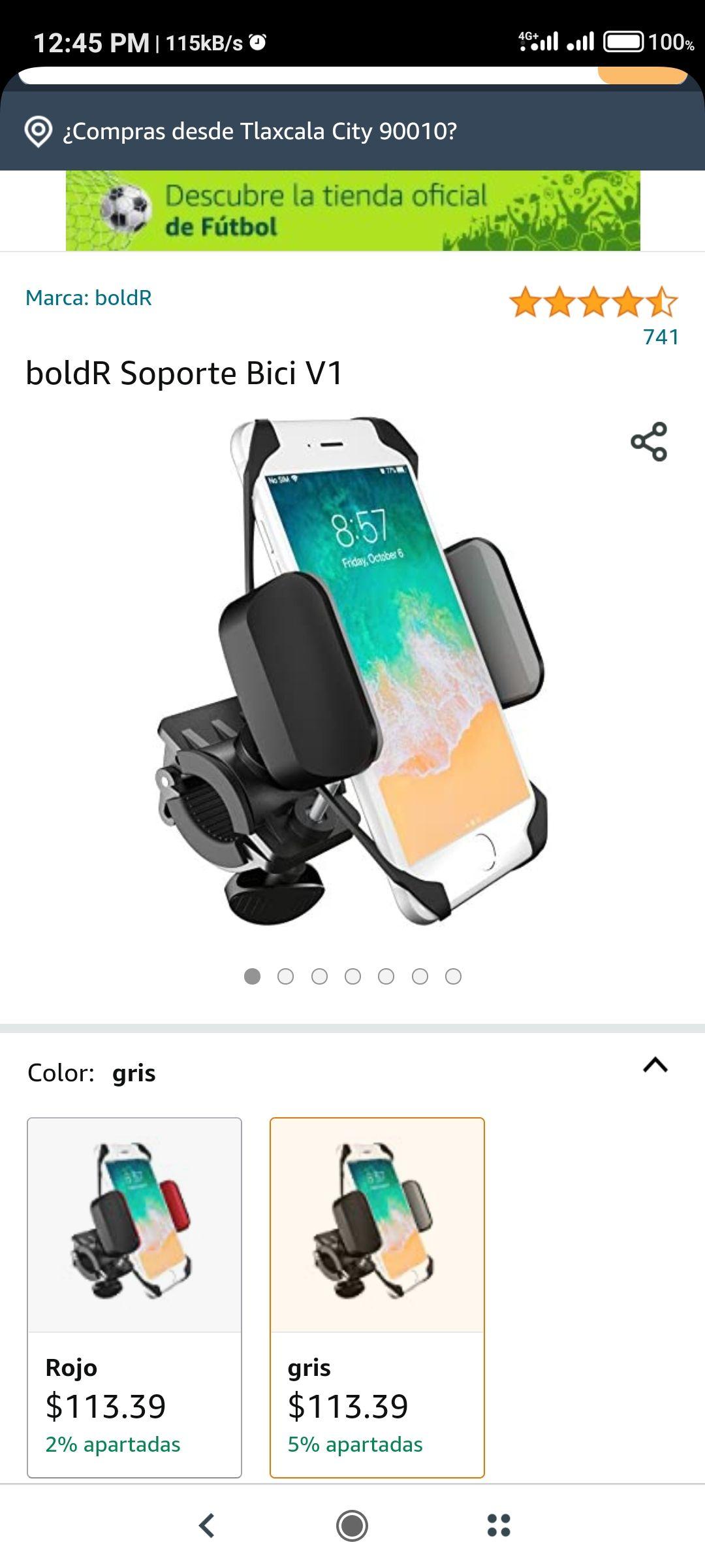 Amazon: boldR Soporte Bici o moto V1 AGREGAR EL CUPON