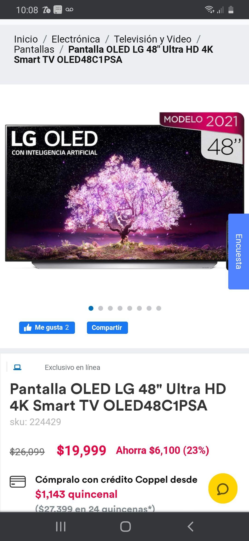 Coppel: LG C1 OLED48C1PSA
