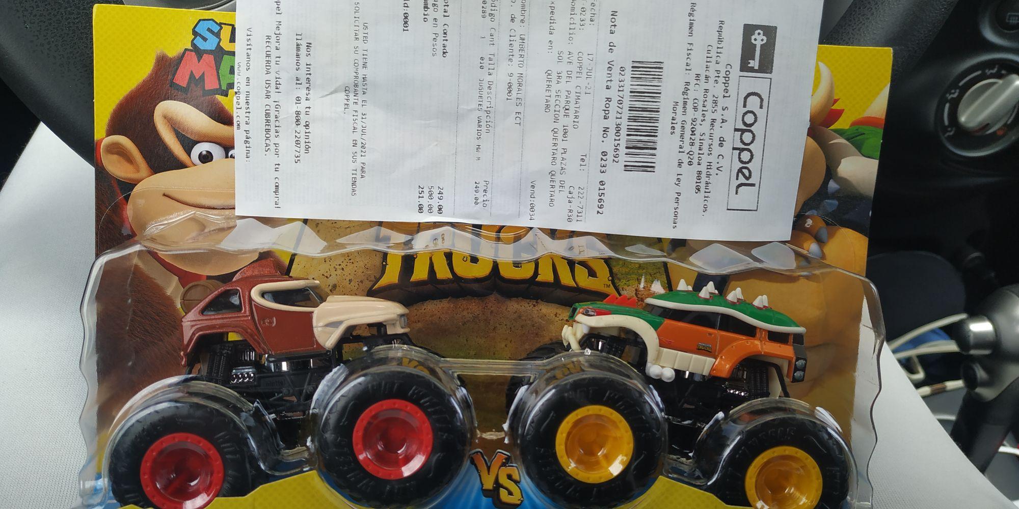 Coppel: Hotwheels Monster Truck Donkey Kong vs Bowser