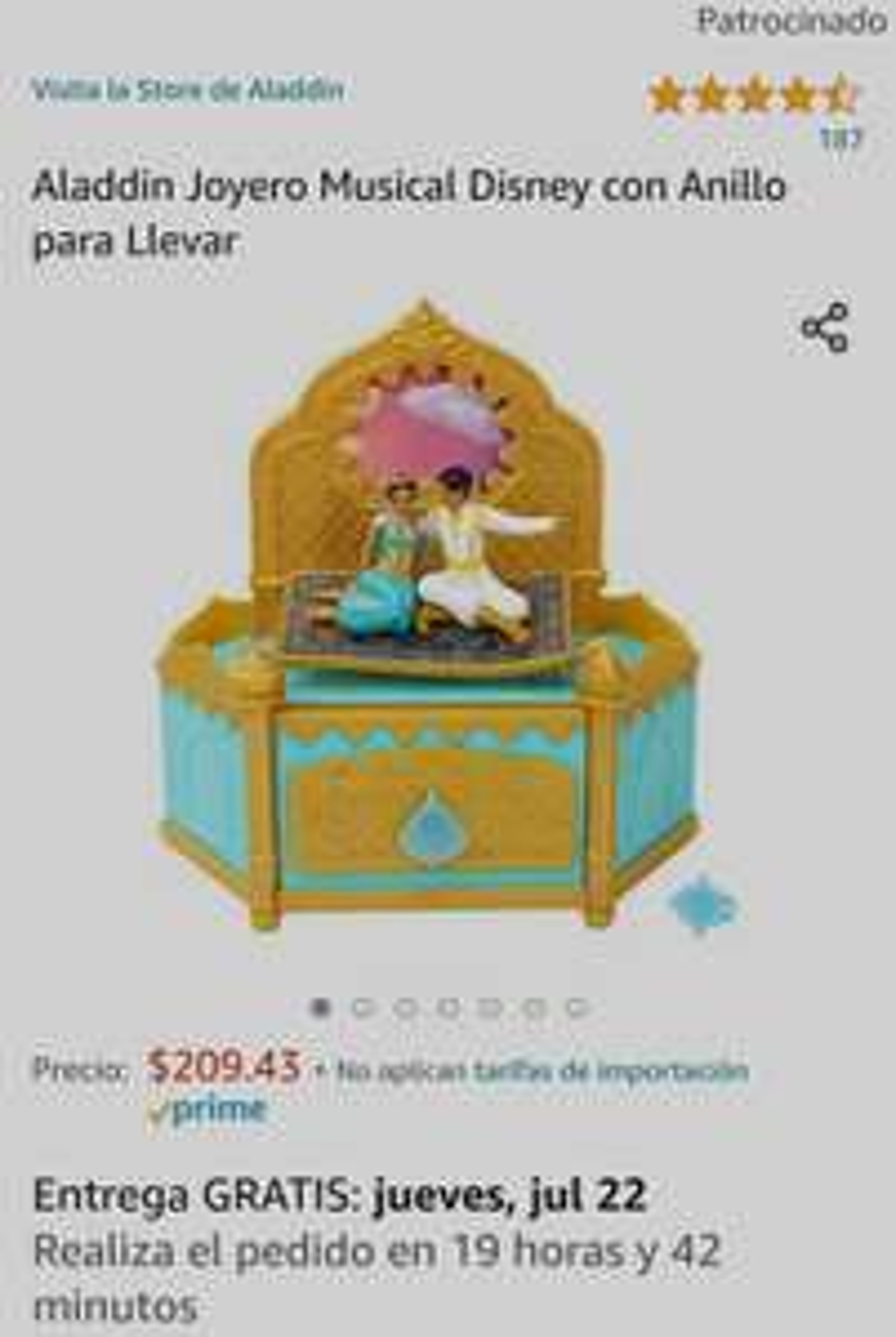 Amazon: Alajero de Aladdin excelente regalo
