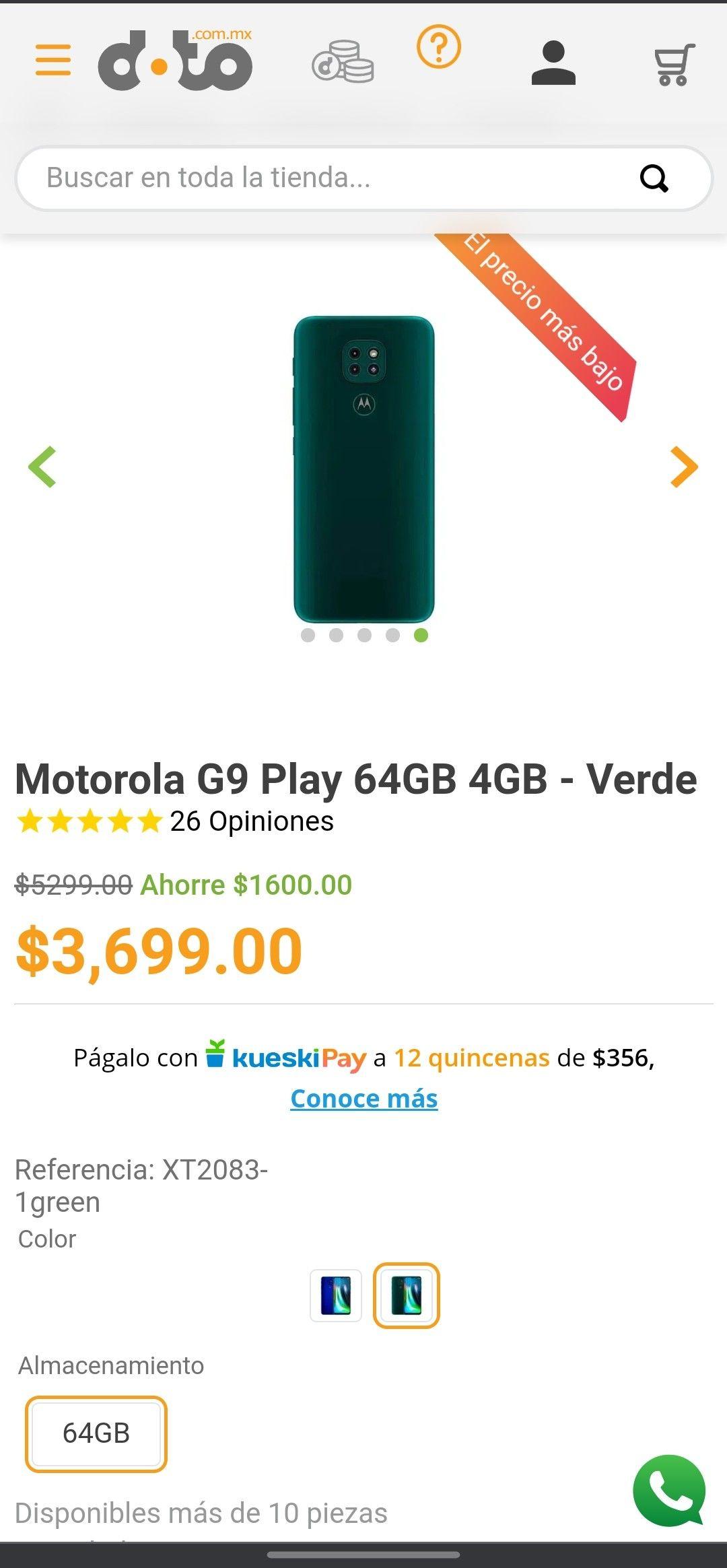 Doto: Moto G9 Play (MP + CITIBANAMEX)