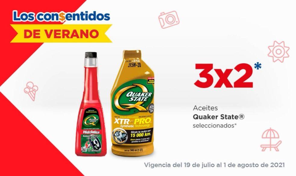 Chedraui: 3 x 2 en aceites Quaker State seleccionados