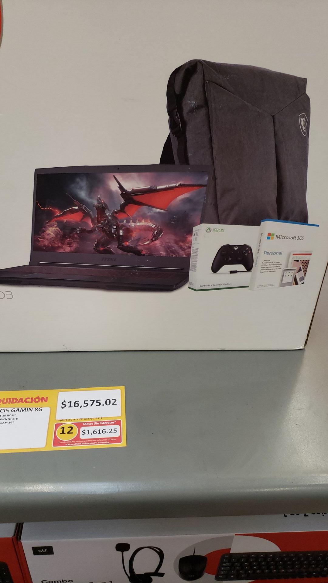 Laptop MSI GF63, Walmart Lomas Toreo. CDMX