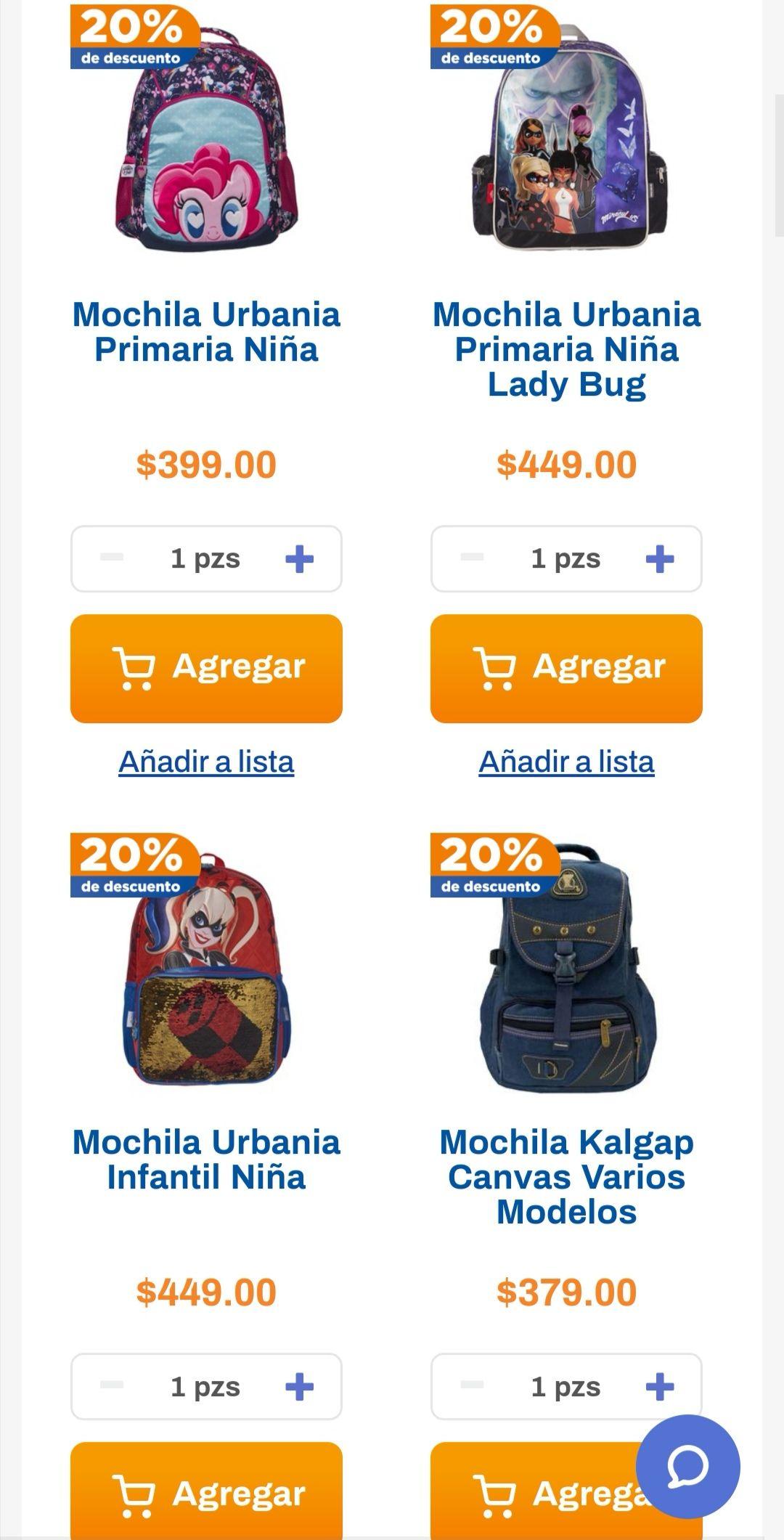 Chedraui: 20% de descuento en todas las mochilas escolares