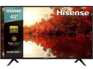 """Amazon: Hisense 40H5500F Android TV Smart TV 40"""", 1080p, Built-in Wi-Fi, Color Negro"""