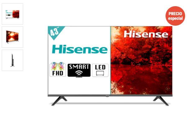 RadioShack, Pantalla Hisense 43H5500G / 43 pulgadas / FHD / Smart TV
