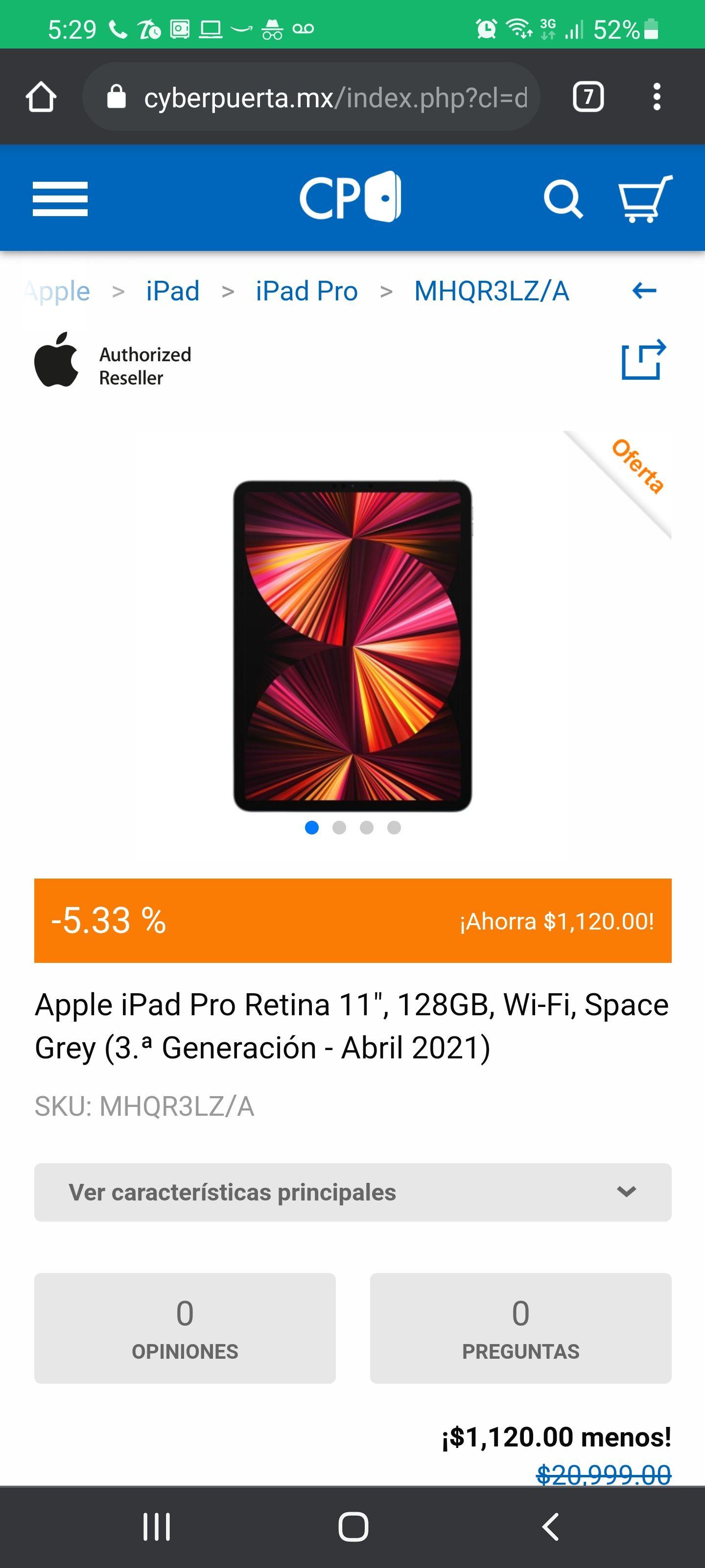 """CyberPuerta: iPad Pro 11"""""""