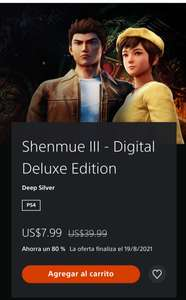 PlayStation Store: Shenmue III Digital Deluxe Edition