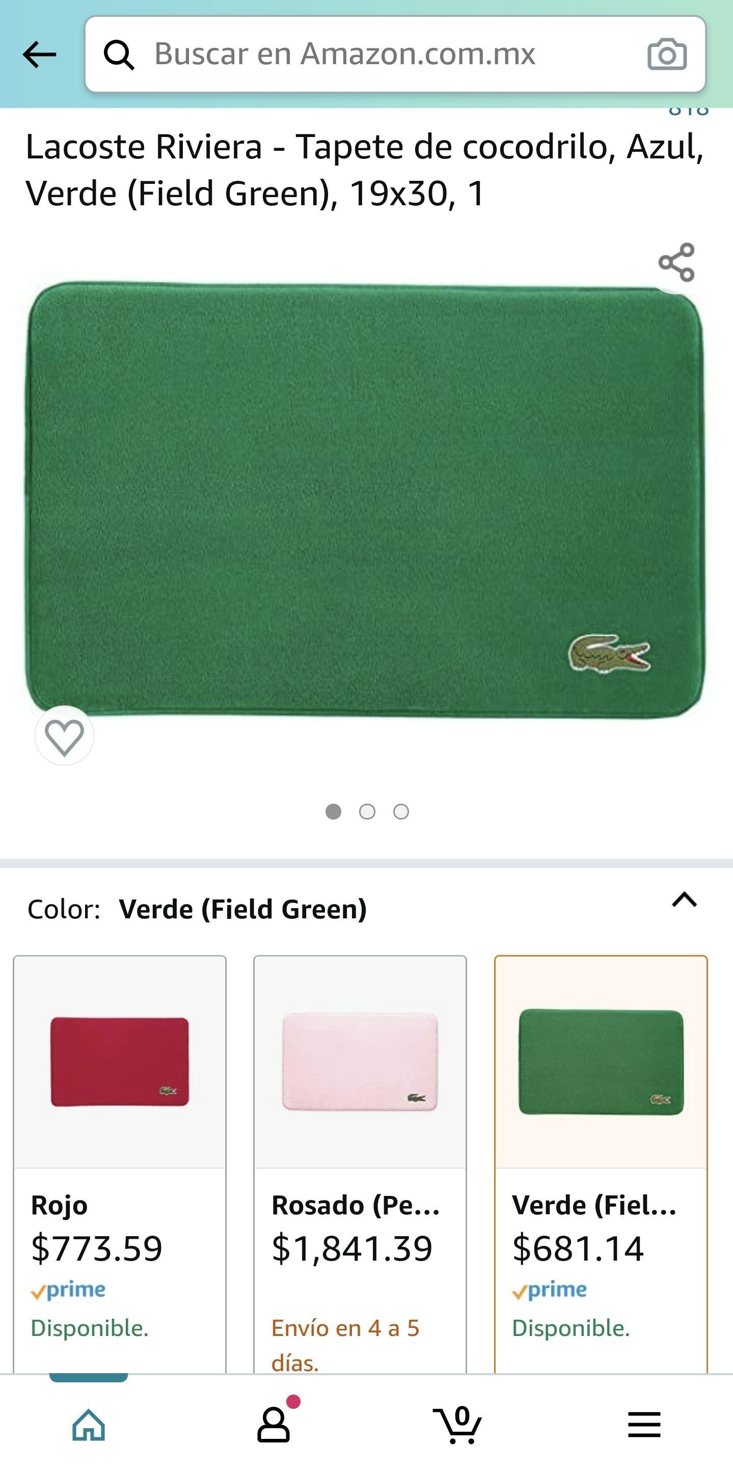 Amazon Tapete Lacoste en Color Verde