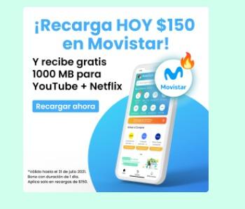 Hola Cash: 1GB de regalo en recargas de $150 en Movistar