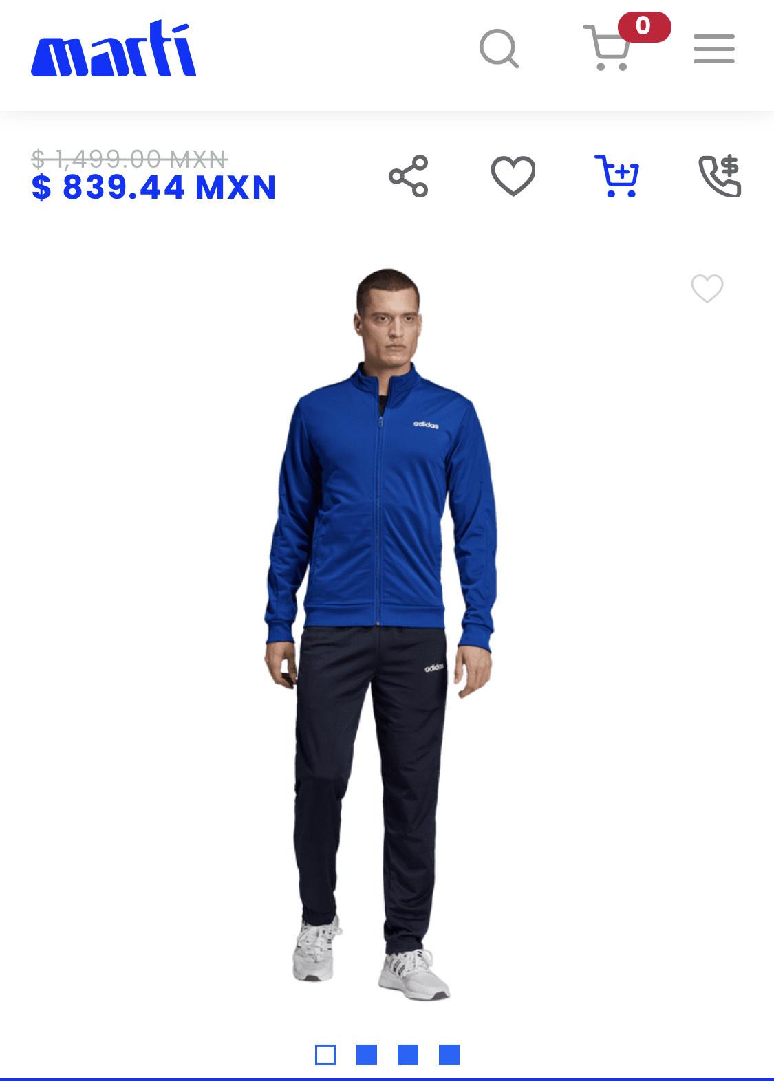 Marti: Conjunto deportivo Adidas essentials Basics para hombre