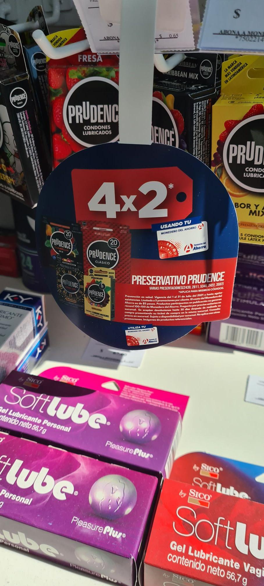 Farmacias del Ahorro: 4x2 en condones Prudence