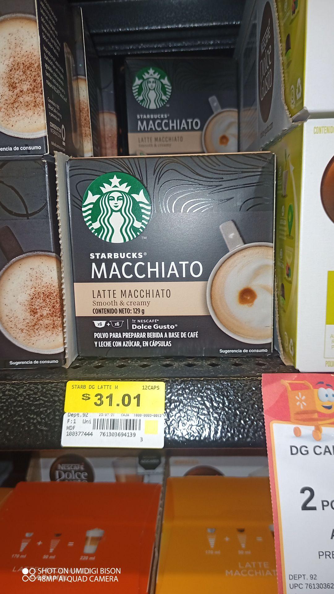 Walmart Nescafé dolce gusto Starbucks machiatto