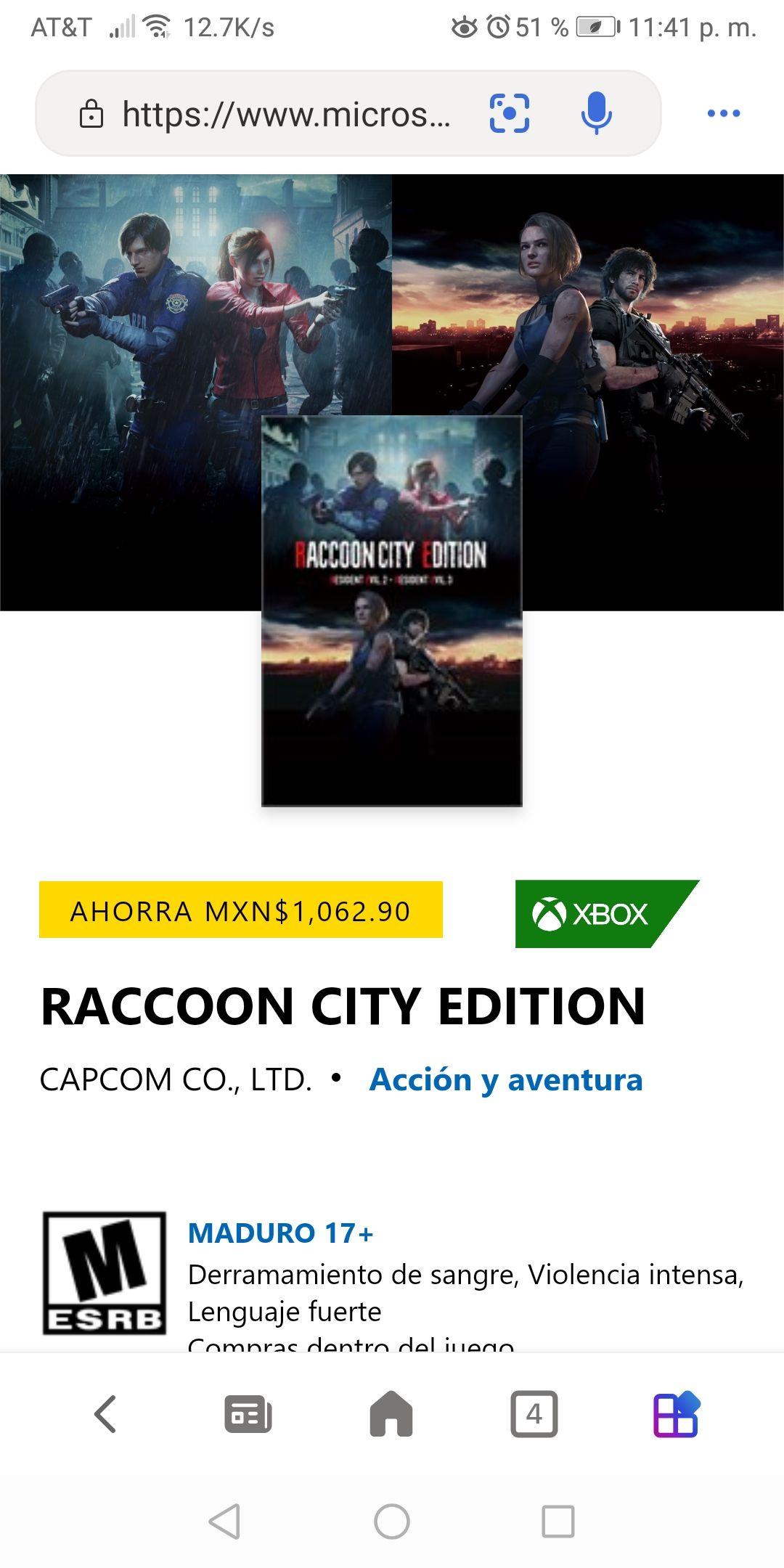 Raccon city edition xbox one