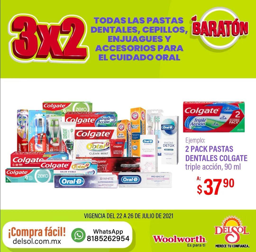 Del Sol y Woolworth: 3 x 2 en todas las pastas dentales, cepillos, enjuagues y accesorios para el cuidado oral