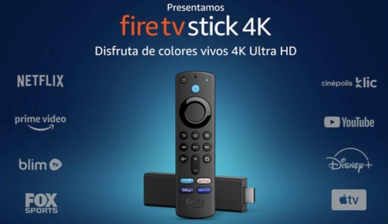 Radioshack Amazon Fire TV Stick 4K / UHD 4k / HDMI / Negro (pagando con hsbc)