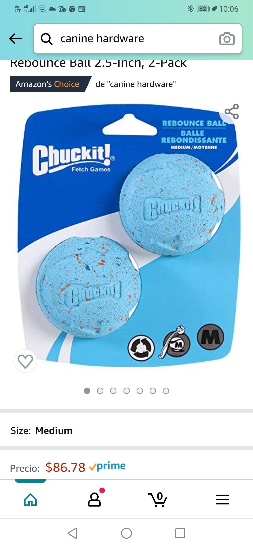 Amazon, Paquete de 2 bolas Chuck it!