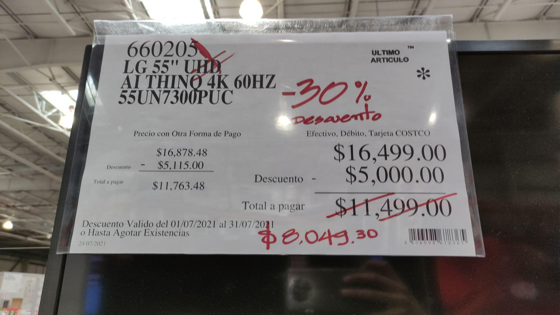 "Costco Ensenada: LG 55"" 4k 55UN7300"