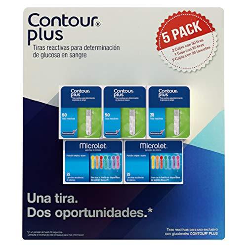 Amazon 125 Tiras Reactivas Contour Plus + 50 Lancetas Microlet