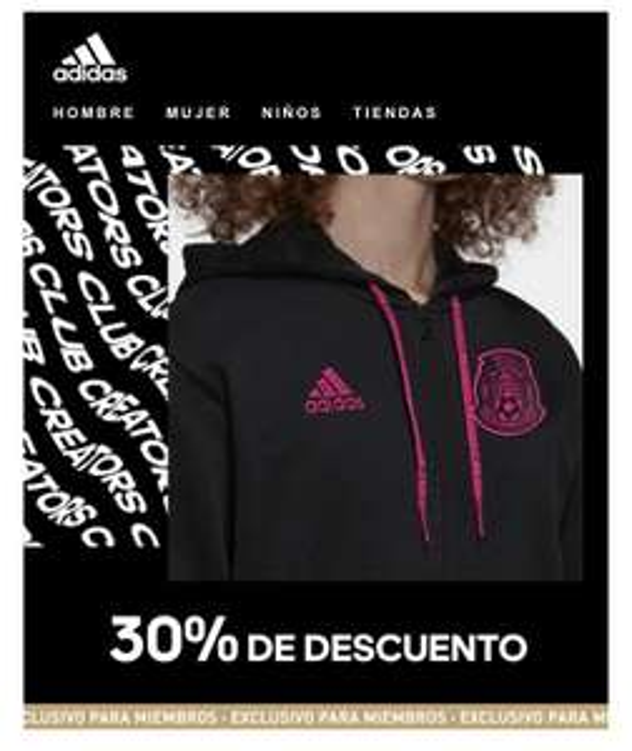 Adidas: Cupon de 30% de descuento