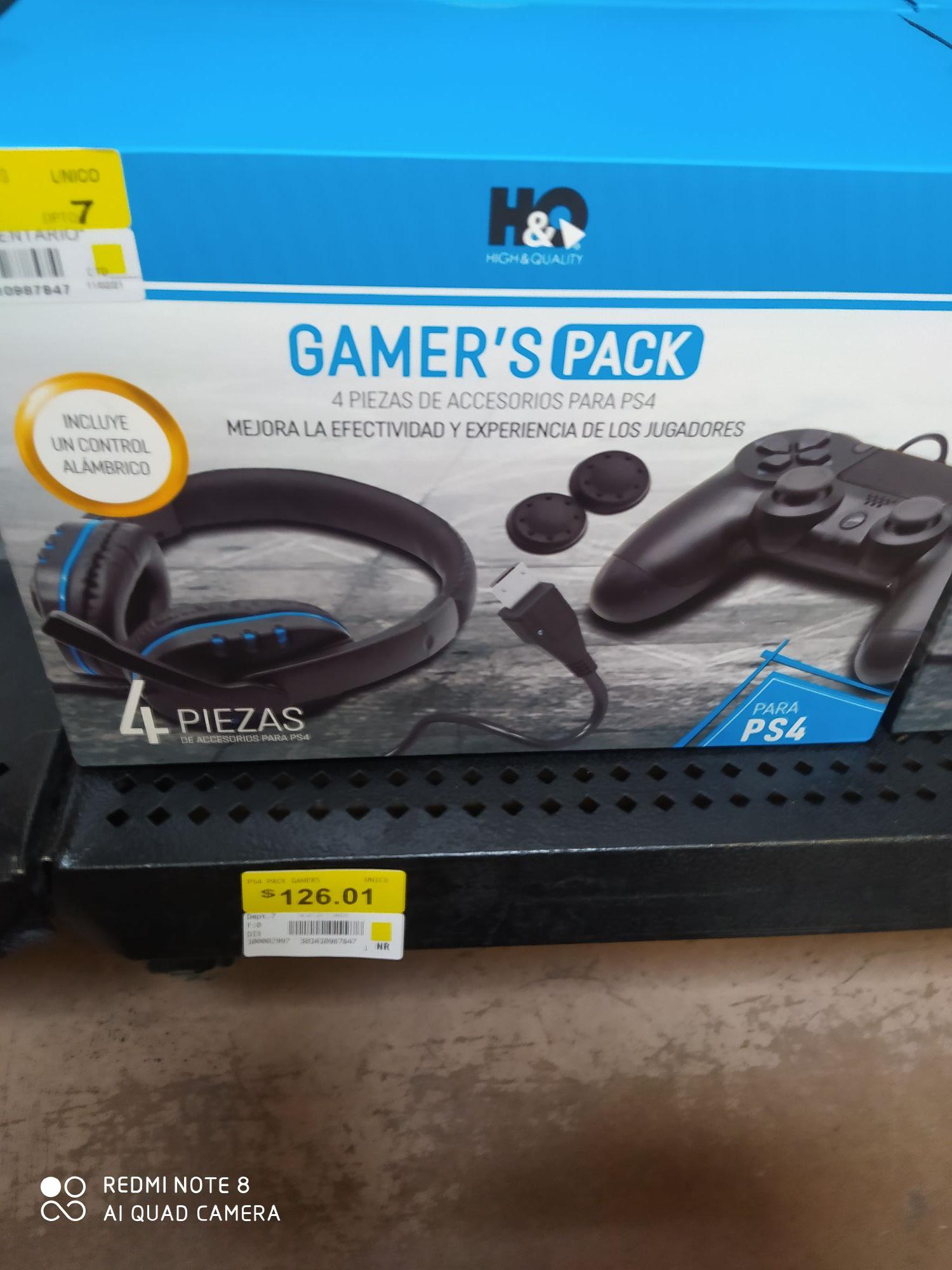 Walmart: Gamer's pack para ps4