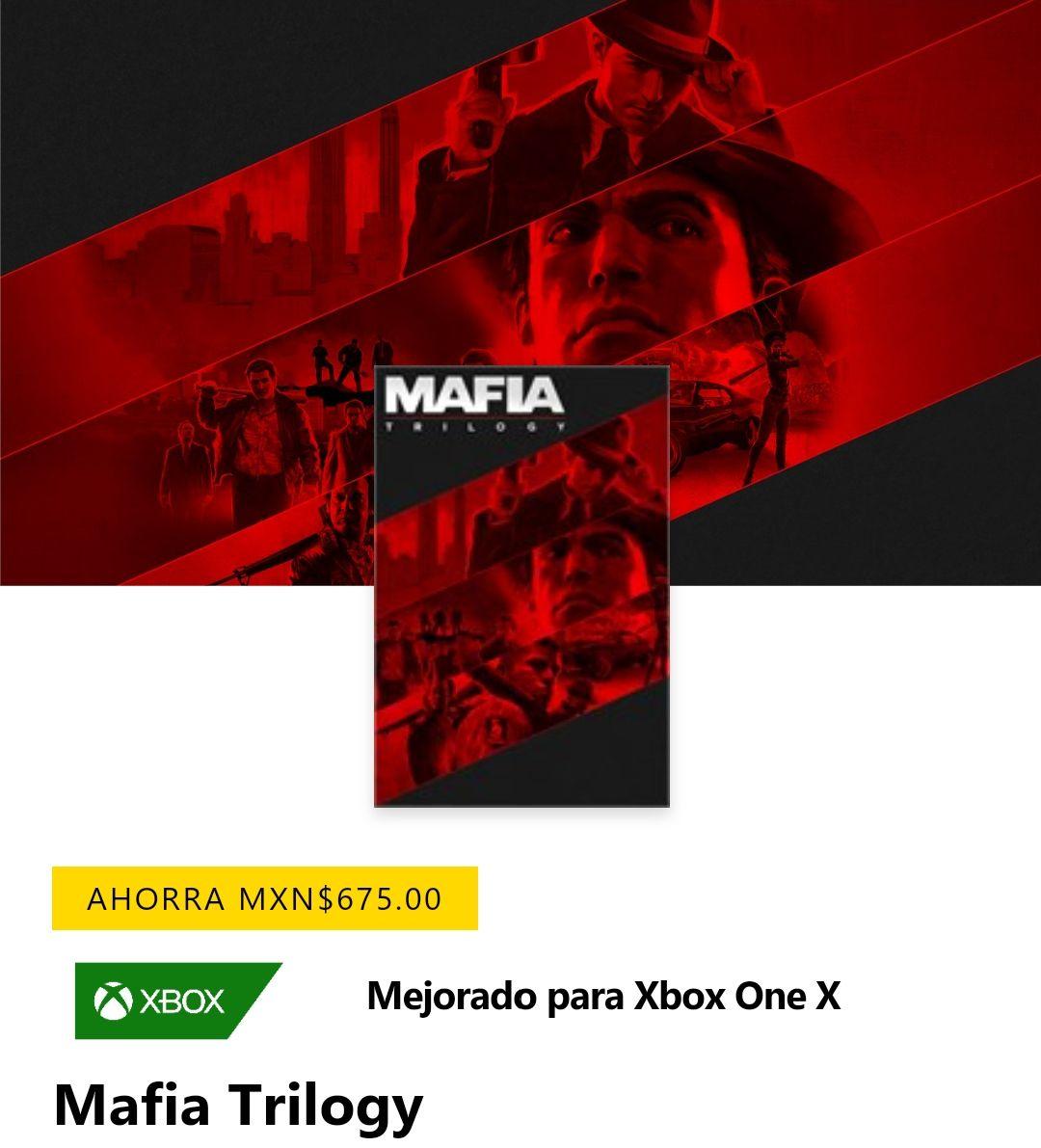 Xbox: Mafia Trilogy digital (1, 2 y 3 + DLC)