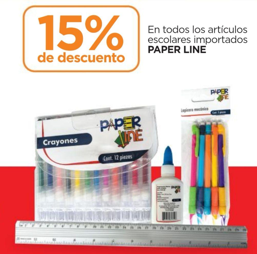 Chedraui: 15% de descuento en todos los artículos escolares importados marca Paper Line