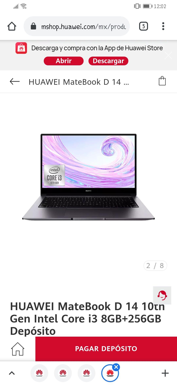 Huawei: laptop Matebook d14 i3, 8/256