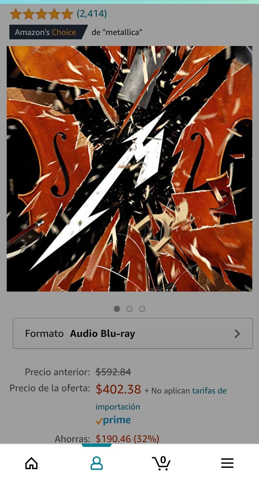 Amazon: CD / Blu-ray Metallica S&M 2
