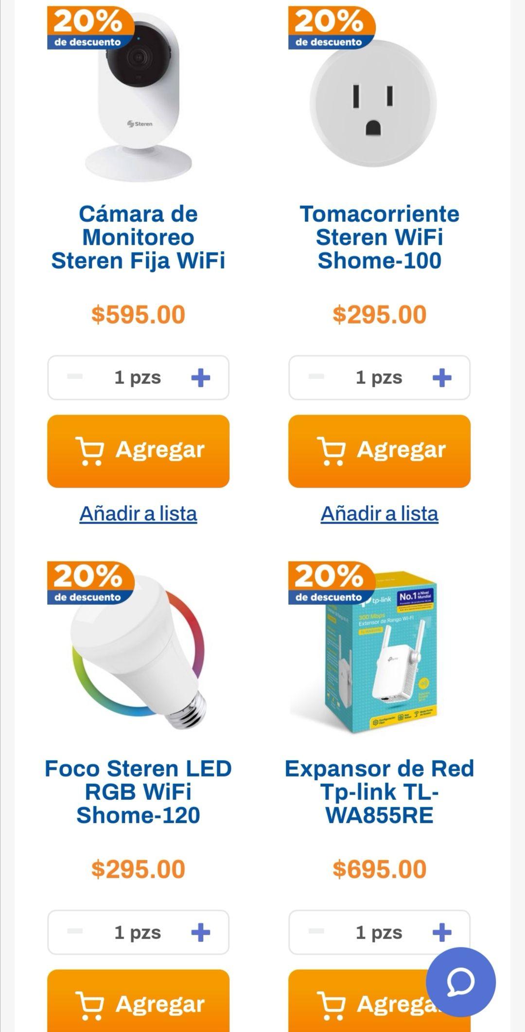 Chedraui: 20% de descuento en smart home Steren