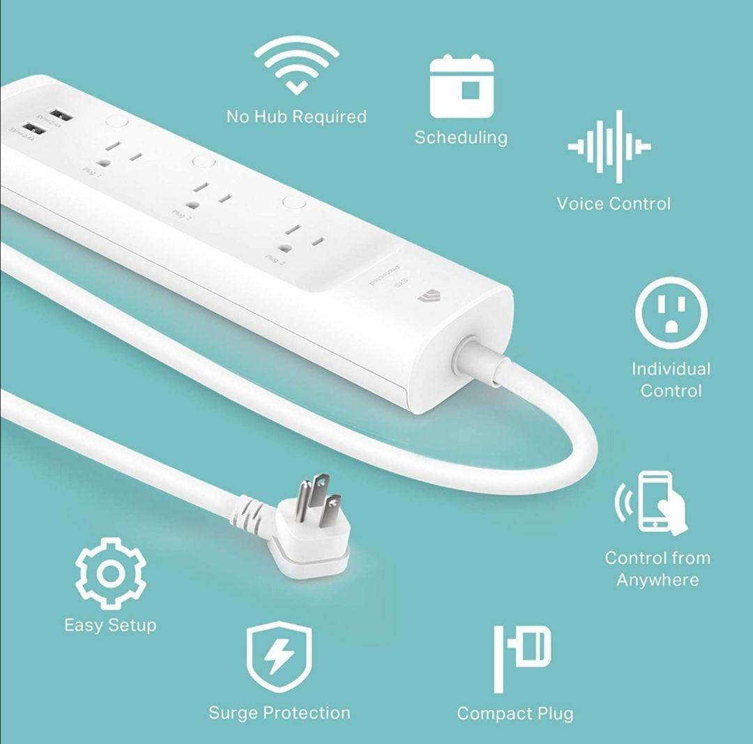 Amazon: Enchufe inteligente Kasa Smart 3 tomas + 2 USB