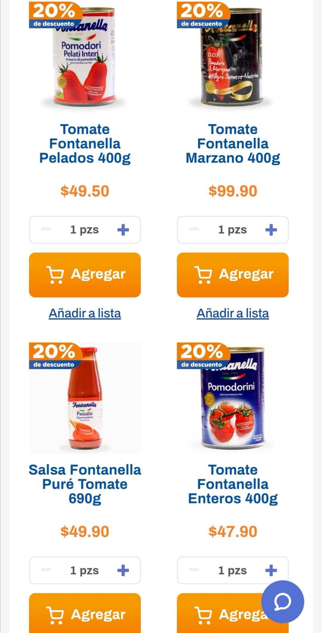 Chedraui: 20% de descuento en productos Fontanella seleccionados