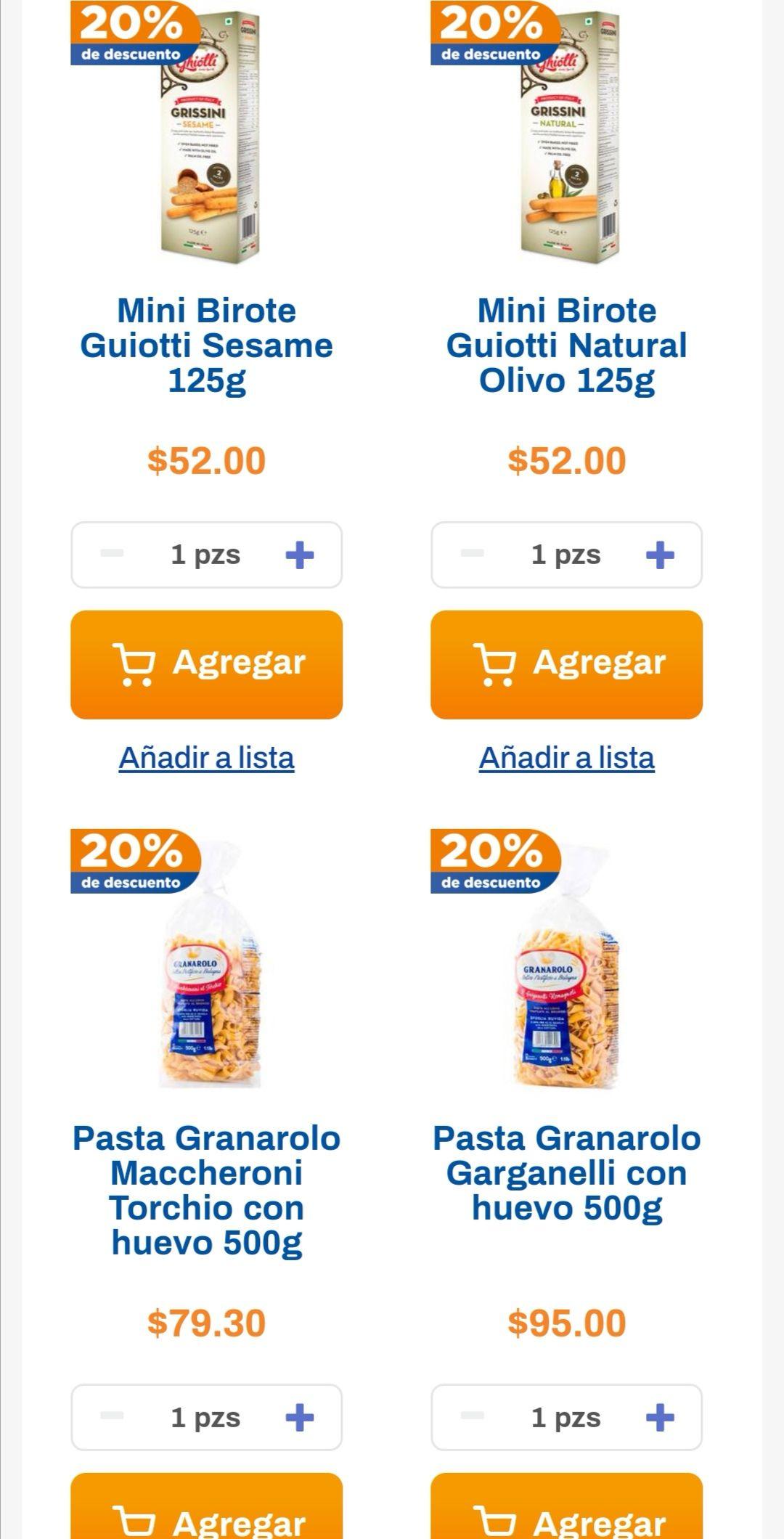Chedraui: 20% de descuento en Pastas y Galletas Granarolo seleccionadas