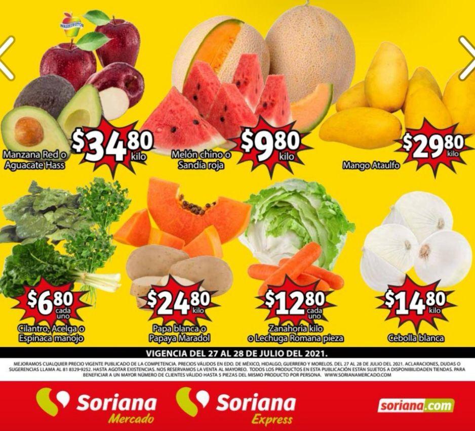Soriana Mercado y Express: Frescura de Mercado 27 y 28 Julio