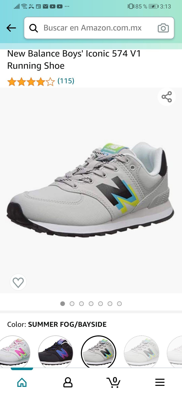 Amazon: New Balance Boys' Iconic 574 V1 Running Shoe (talla chica 9 cm)
