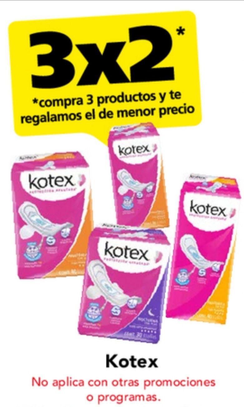 Farmacias San Pablo: 3 x 2 en Kotex