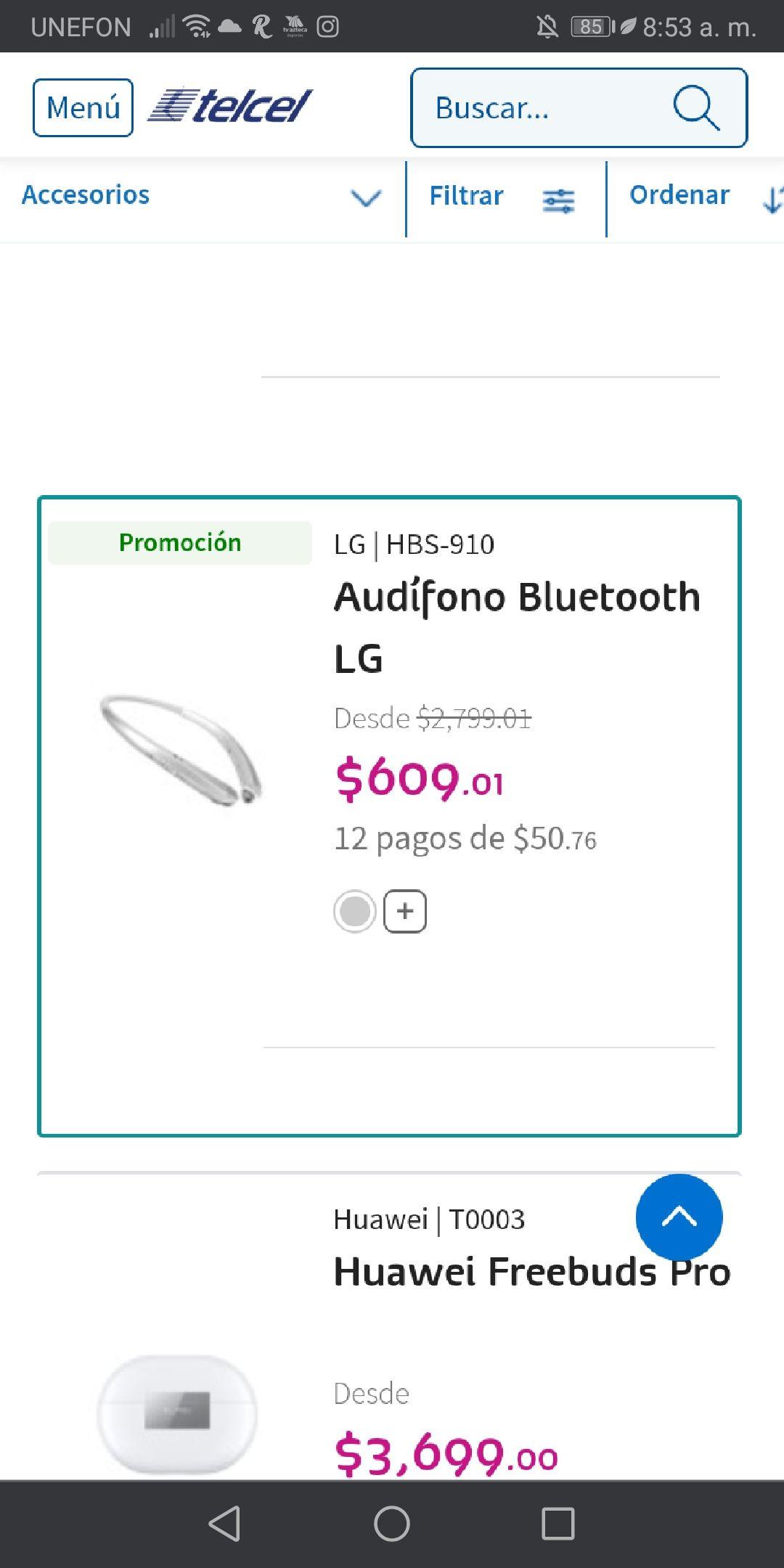 Telcel, Audífonos LG HBS 910