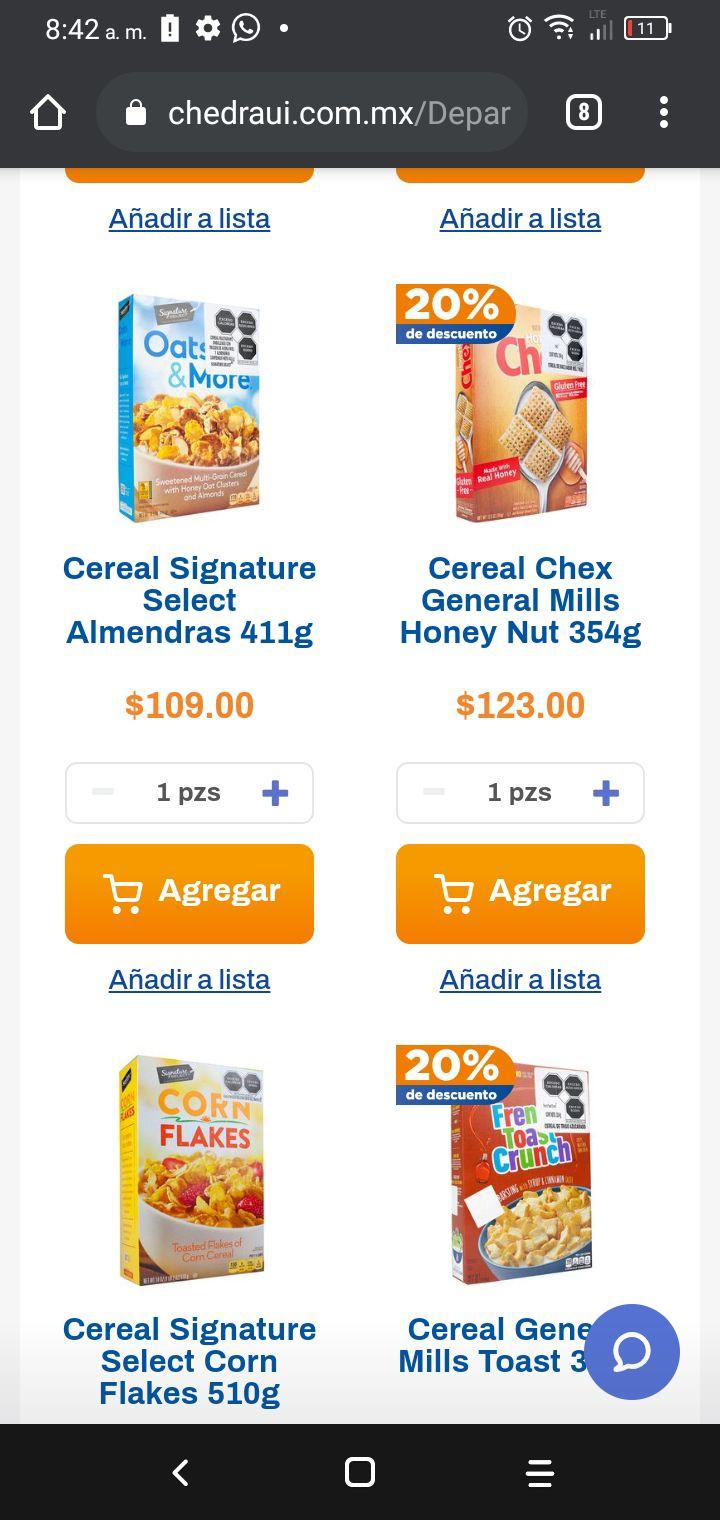 Chedraui: Descuento cereal mills