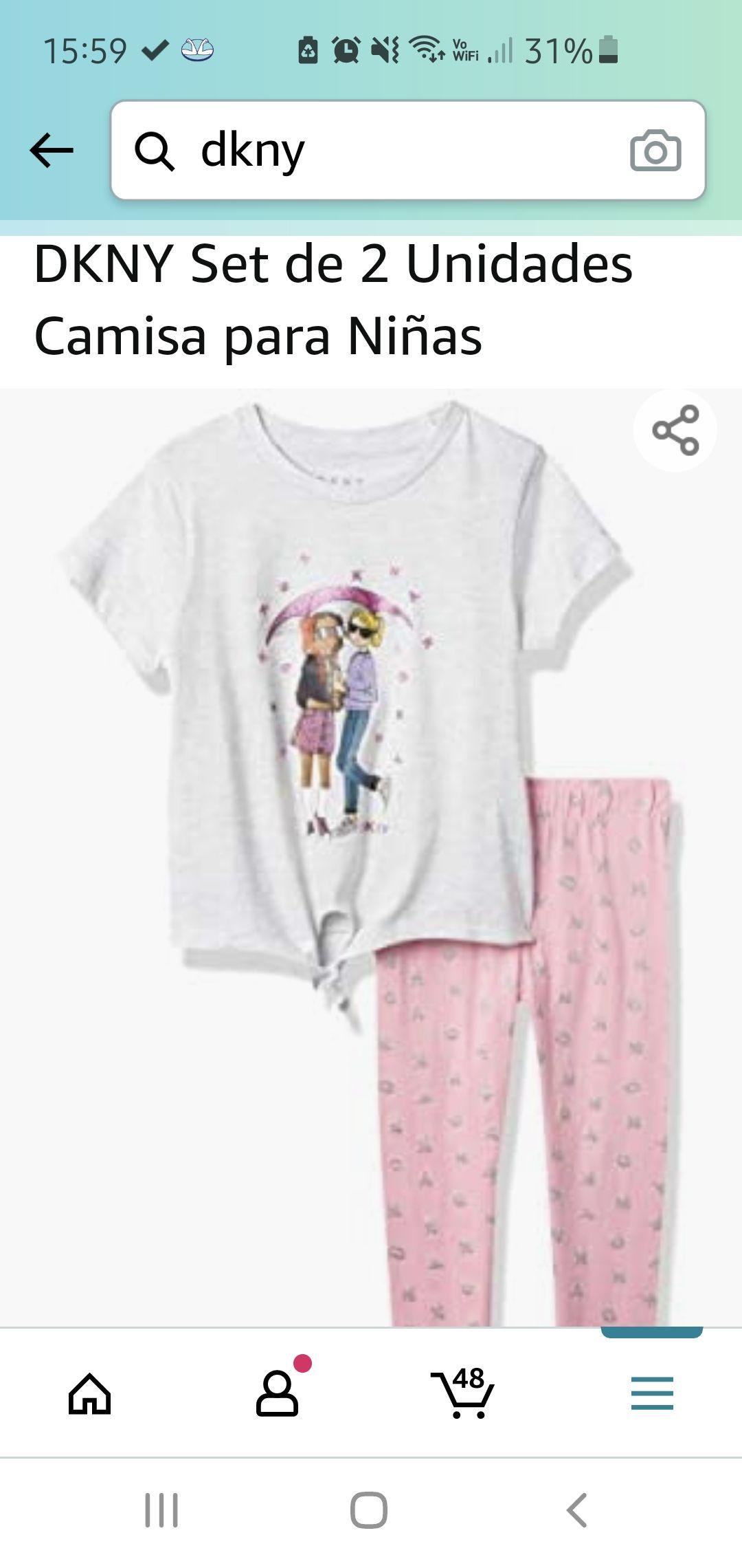 Amazon: Set niñas DKNY talla 4