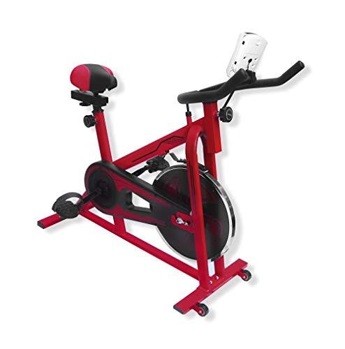 Amazon: UrbanFit Pro Bicicleta Spinning Uso Rudo 13kg Estatica Banda Gym - Rojo