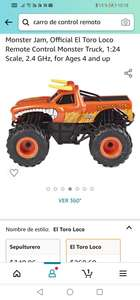 Amazon: Monster Jam, Official El Toro Loco Remote Control Monster Truck, 1:24 Scale, 2.4 GHz, for Ages 4 and up