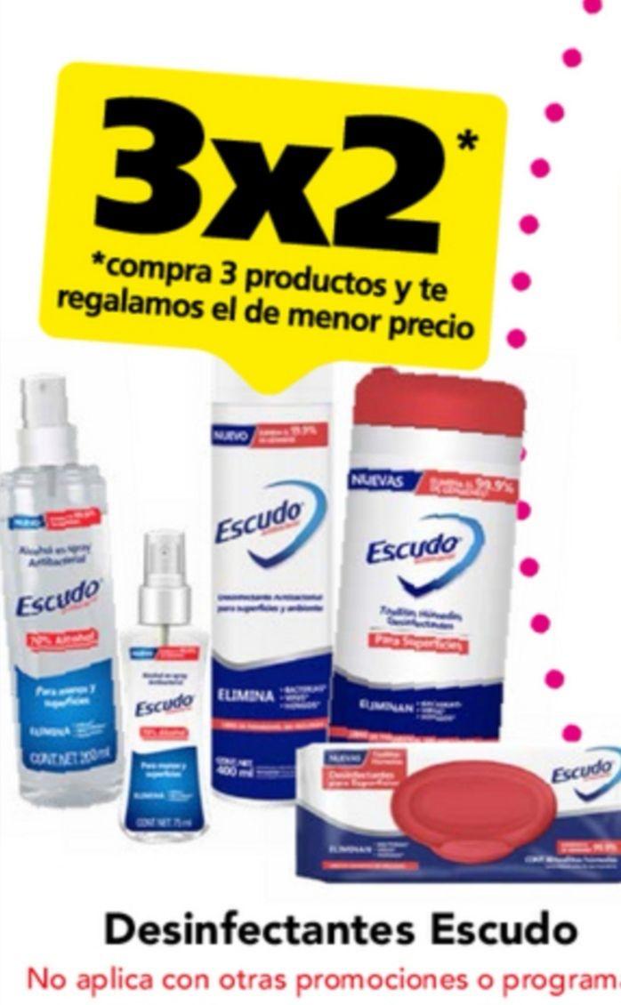 Farmacias San Pablo: 3 x 2 en desinfectantes Escudo