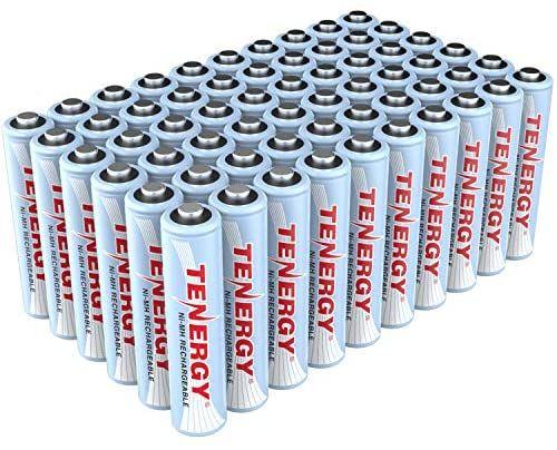 Amazon: Tenergy Batería recargable AAA de alta capacidad 1000 mAh NiMH AAA (60 Unidades)