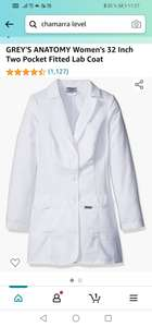 Amazon: GREY'S ANATOMY Women's 32 Inch Two Pocket Fitted Lab Coat