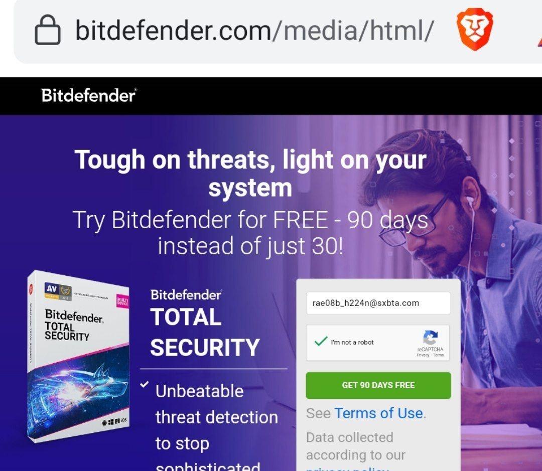 Bit Defender internet Segurity 3 meses gratis