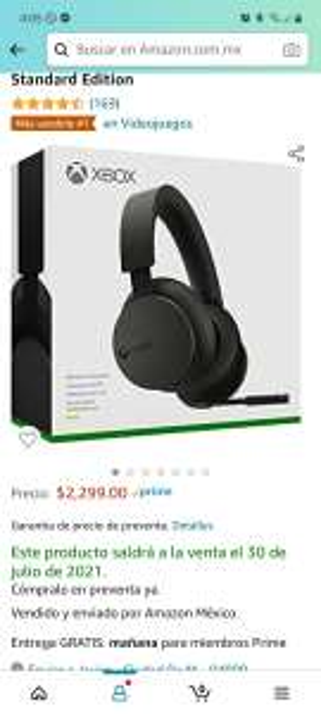 Amazon: Headset inalambrico Xbox