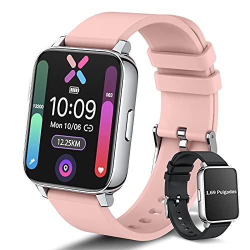 Amazon: Smartwatch Pulsera Inteligente, Reloj Inteligente Hombre Mujer con Esfera Personalizada, IP67 Impermeable
