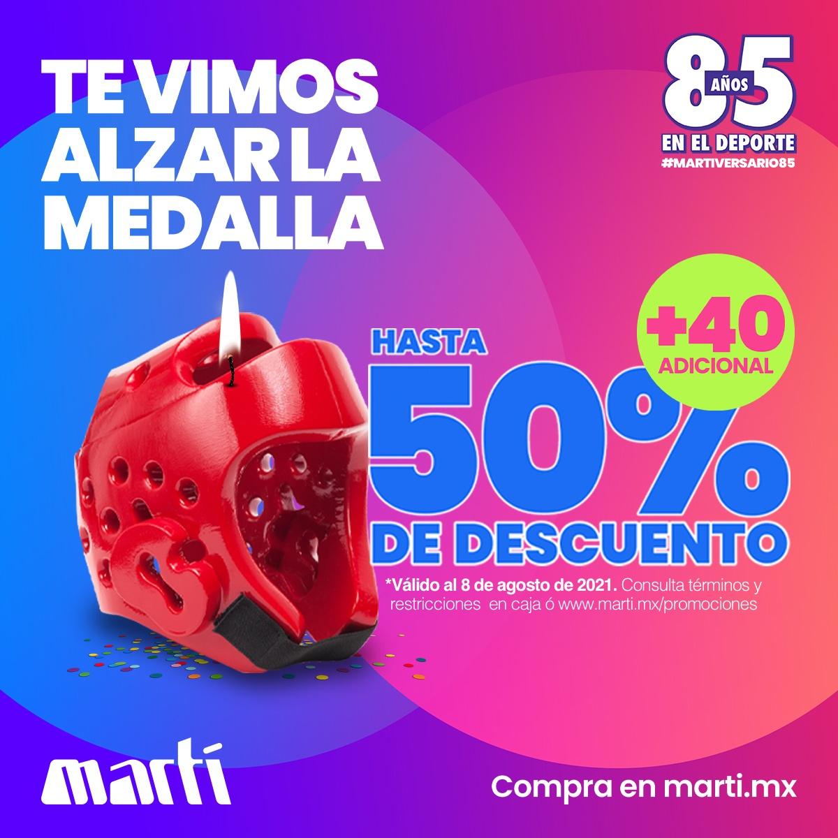 Martí: Venta Final Hasta 50% + 40% Adicional