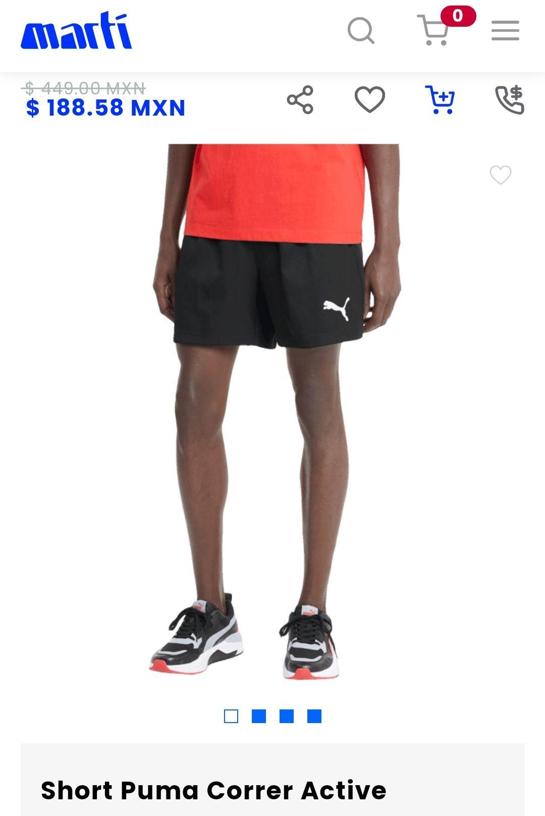 Martí: Shorts Puma Hombre todas las tallas